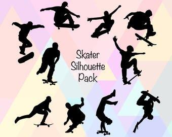 Skateboard Clipart SVG | Skate Clipart SVG | Skate Cut File | Skate Cricut Svg | Skate SVG File | Skater Dxf | Skater Png | Skate Eps