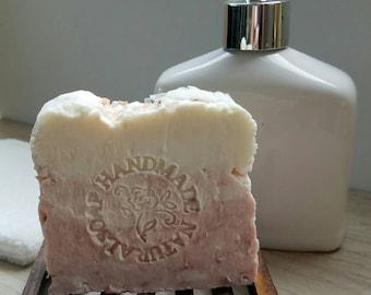 All Natural Soap / Pink Clay Soap / Artisan Soap / Rustic Soap / Hot Process Soap / Handmade Soap / Homemade Soap / Vegan / Gift / Bath