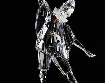 Swarovski Crystal-Pierrot-Harlequin-MasquaradeTrilogy-Columbine-Crystal Figurines-Glass ornament-Swarovski Annual Edition-Crystal Collectors