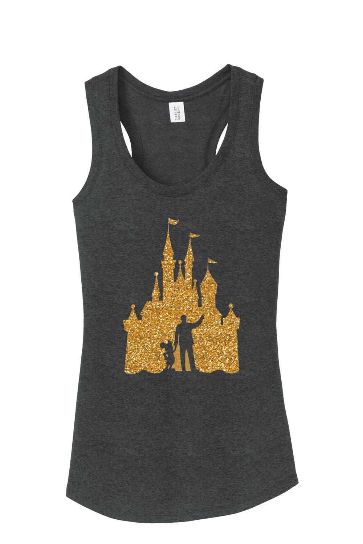 T-shirt design for zumba - Walt Disney Mickey Mouse Castle Outline Workout Tank Disney Shirt Ladies Woman Plus Misses Tank Top Racerback Run Disney Workout Tank