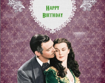 Gone With The Wind Birthday Card