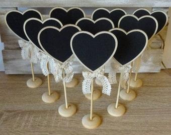 10 heart chalk stands