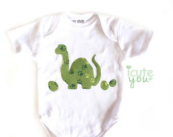 Dinosaur Iron On Applique, for library bag, t-shirts, fun baby shower activity for baby Boy - from Australia