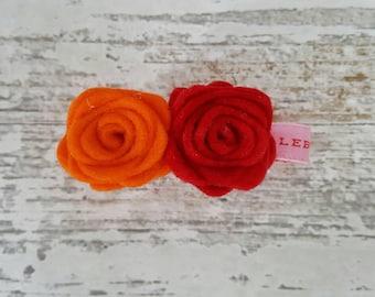 Small Roses Hair Clip