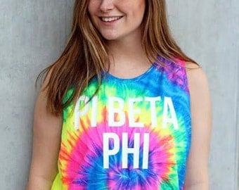 Pi Beta Phi Tie Dye Tank - XL