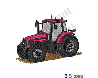 Red Tractor - Machine Embroidery Design