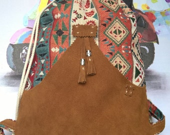 Backpack leather type bag