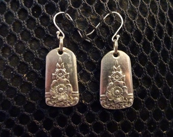 Antique Silver Plate Spoon Earrings