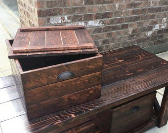 Rustic Carrington Coffee Table and Crates