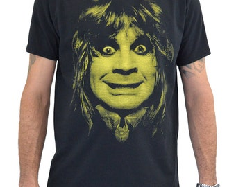 "Mens T-shirt ""Ozzy Osbourne BAT"" Water Colors Screen Print"