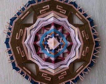 Western - woven mandala / ojo de dios / olho de deus / wall decor, hanging - 11,2 inches (28,5 cm) diameter