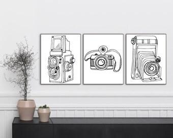 BUNDLE  -Vintage Camera Prints