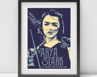 arya stark, game of thrones, game of thrones quote poster, arya stark poster-print-art, game of thrones poster-print-art-gift, tv poster