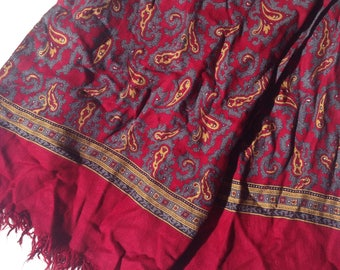 Mens red vintage scarf - Made in England