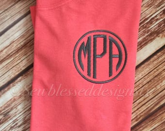 Monogram TShirt* Monogram Everything * Circle Monogram Shirt* Bridesmaid gift* Wedding Party