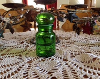 Green Glass Apothecary Jar