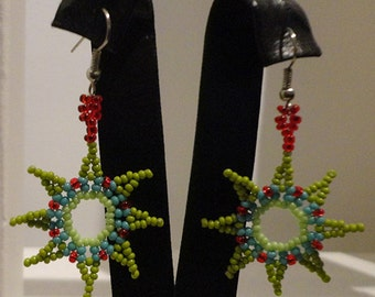 Way Huichol earrings