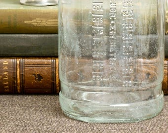 Vintage Glass IV Bottle  1000 Ml – 1950s - Hospital - Medical History - Korean War Era