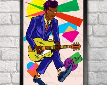 Chuck Berry Poster Print A3+ 13 x 19 in - 33 x 48 cm  Buy 2 get 1 FREE