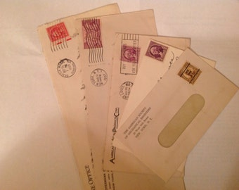 Set of five 1930s Envelopes with stamps