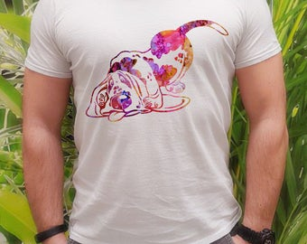 Dog tee - Dog t-shirt - Fashion men's apparel - Colorful printed tee - Gift Idea