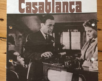 """Casablanca - """"As Time Goes By"""" sheet music (Humphrey Bogart / Ingrid Bergman)"""