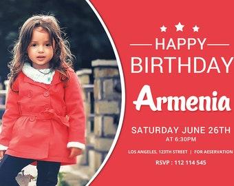 Modern Baby Girl Birthday Card | Baby Girl Birthday Card | Fashion Baby Girl Birthday Card | Printable Card