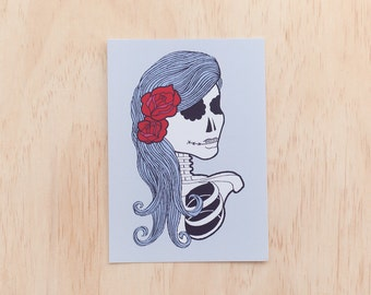 Day of the Dead Girl Postcard