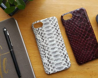 Python leather iPhone 7 case, Python leather phone case, phone case, unique phone case,