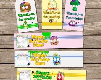 Grossery Gang Birthday, Grossery Gang Tags, Grossery Gang Party Theme, Grossery Gang Water Bottle Labels