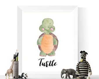 Turtle Printable | Turtle Watercolor Printable | Animals | Watercolour | Animal Print |  Animal Printables | Turtles
