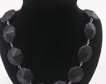 Black Hexagon necklace