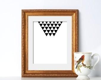 Pentagram Print Digital Download Printable Art Cool Design Print Arrow Print Geometric Print Symmetrical Art Print Digital Art Abstract Art