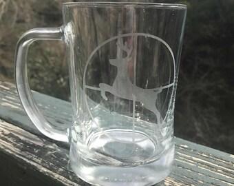 Deer in Crosshairs Beer Mug