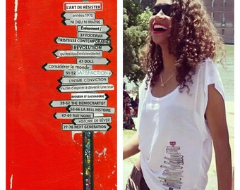 Directions Artshirt wife: WildSleeves, high quality/bioethics/hypoallergenic Tencel parts numbered/signed, Federika size M.