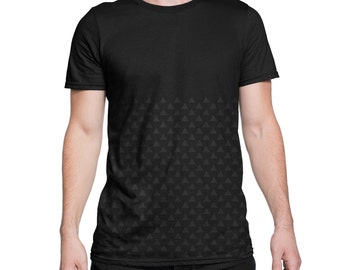Triangle pattern unisex tee, t-shirt, t-shirt shirt pattern, triangles, men's clothing, t-shirts, clothing, triangles