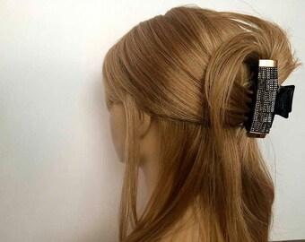 Crown Hair Clip Crystal Hair Clip Black Hair Claw Clip Wedding Hair Clip Rhinestone Hair Clip Bridesmaid Hair Accessory Hair Clip Claw