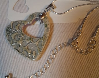 Ceramic Heart Necklace