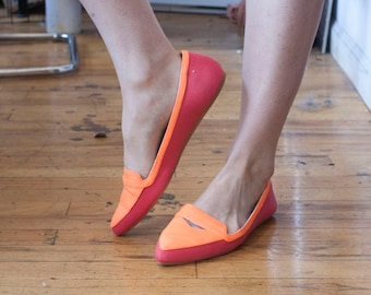 Neon Pointed Toe Flats