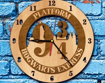 Harry Potter wall decor Hogwarts art Clock harry potter decorations hogwarts express ticket wall clock platform 9 3 4 anniversary gift