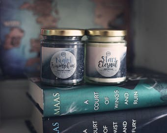 Night Triumphant / Stars Eternal {A Court of Wings and Ruin by Sarah J Maas} Set of 2 Candles