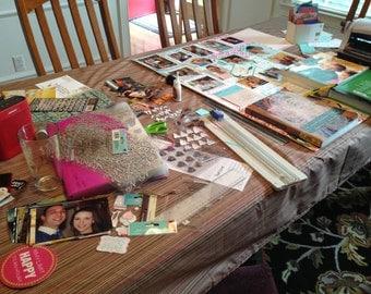 Hand-made Memory Collage: Perfect for graduations, wedding, anniversaries, funerals, landmark birthdays, e.g. 21st, 50th, 75th, etc.