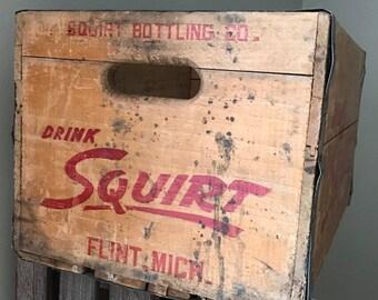 Vintage Wood Squirt Crate