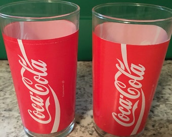 Set of 2 Coca Cola drinking glasses