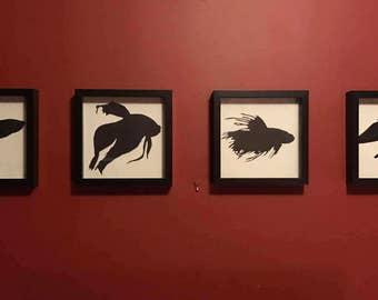 Pet & Animal Silhouette Wall Art