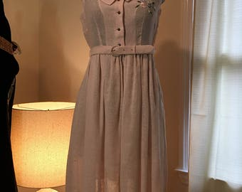 Pink 1950s day dress