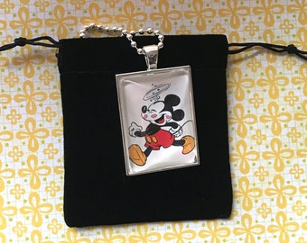 Mickey with Kisses Necklace
