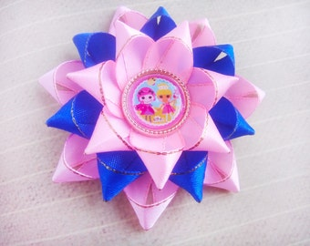 Lalaloopsy bow Hair Bow  Bow for princess for girls  hair clips bows Girl party  Birthday party handmade for hair gift for girls pink blue