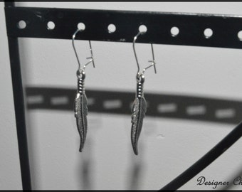 Earrings fine feathers