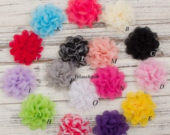 "4.1"" Shabby Lace Mesh Chiffon Flower For Baby Girls Hair Accessories Artificial Fabric Flowers For Headbands For Hair Clips"